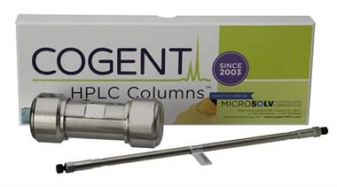 image of Cogent HPLC column box and prep colum